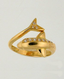 Dolphin Gold 19.2K Ring
