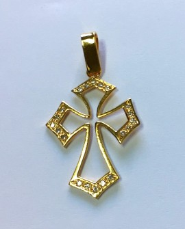 Gold 19.2K Cross Pendant