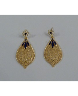 Golden Silver Earrings