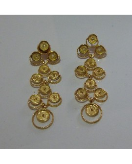 Golden Silver Earrings