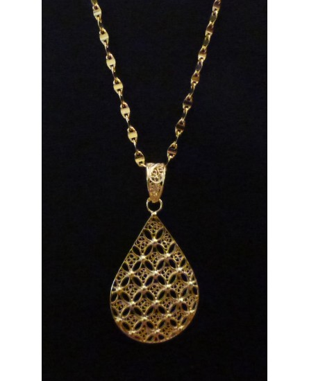 Golden Silver Pendant Necklace