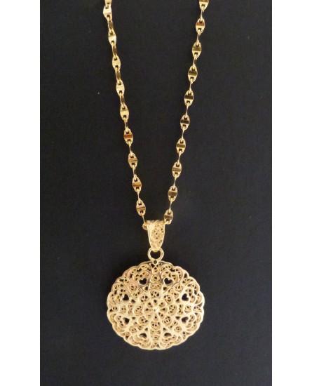 Golden Silver Pendant Necklace