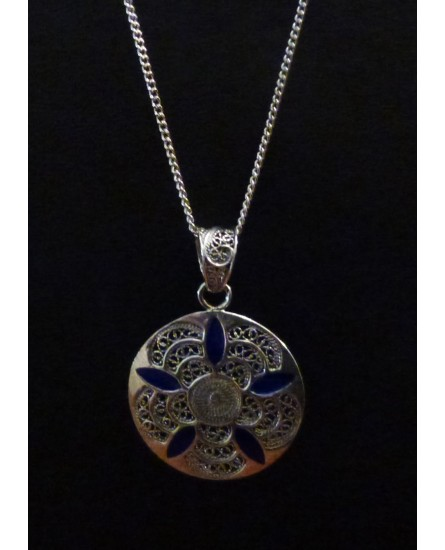 Silver Pendant with Necklace
