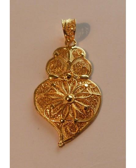 Golden Silver Viana Heart Pendant