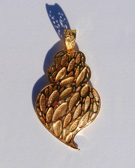 Golden Silver Heart Pendant