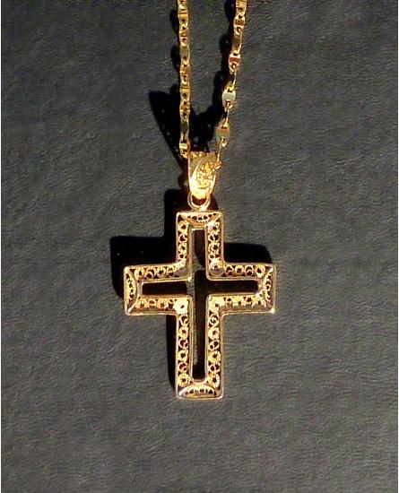 Golden silver necklace and cross pendant feels jewelry feel your golden silver necklace and cross pendant aloadofball Choice Image