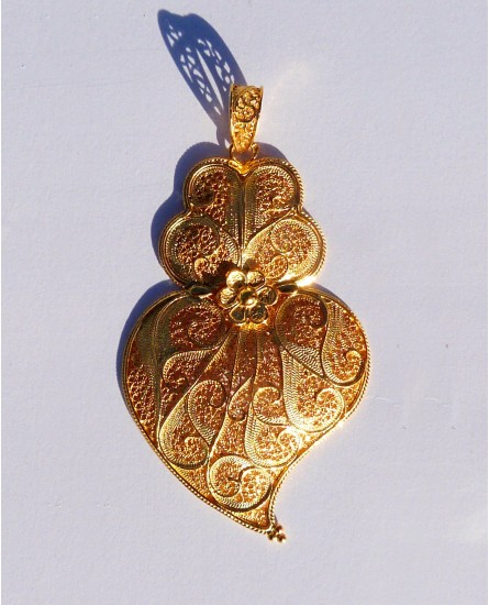 Golden Silver Heart of Viana Pendant