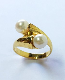 Gold 19.2K Ring with Pearls